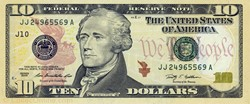 Billet de 10 dollars USA