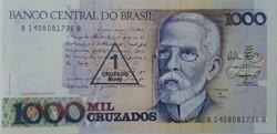 Billet de 1000 cruzados (1 cruzado nouve...