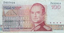 Billet de 100 francs luxembourgeois