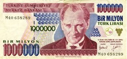 Billet de 1000000 de livres turc