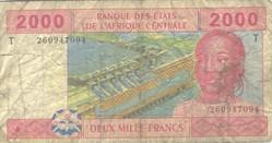 Billet de 2000 francs congolais