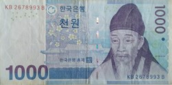 Billet de 1000 won sud-coréen