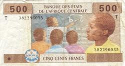 Billet de 500 francs congolais