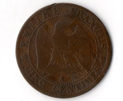 5 centimes Napoléon III, tête nue