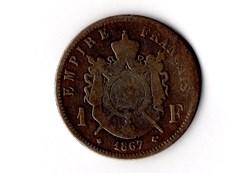 1 franc Napoléon III, tête laurée