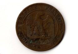 10 centimes Napoléon III, tête laurée