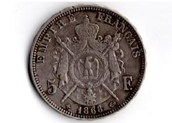 5 francs Napoléon III, tête laurée