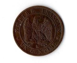 1 centime Napoléon III, tête laurée