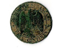 2 centimes Napoléon III, tête nue