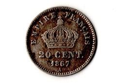 20 centimes tête laurée grand module