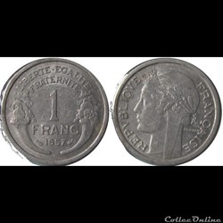 1 franc Morlon (légère) 1957