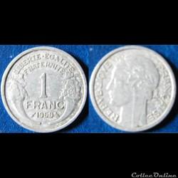 1 franc morlon (légère) 1959