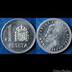 1 peseta Juan Carlos I 1987