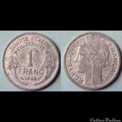 1 franc Morlon (légère) 1946