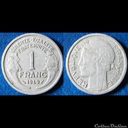 1 franc morlon (légère) 1949