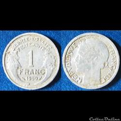 1 franc Morlon (légère) 1950