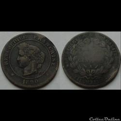 5 centimes Cérès 1890 A