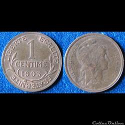 1 centime Dupuis 1903