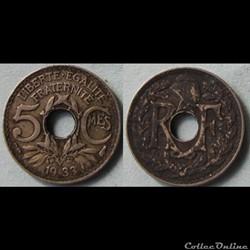 5 centimes Lindauer 1933