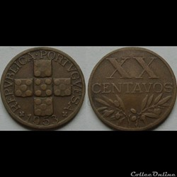 20 centavos 1953