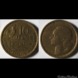 10 francs Guiraud 1950
