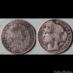 50 centimes Cérès 1873 A