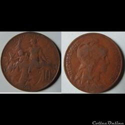 10 centimes DANIEL-DUPUIS 1913