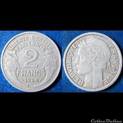 2 francs Morlon 1949