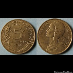 5 centimes Marianne 1986