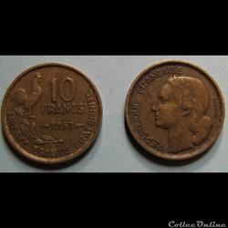 10 francs GUIRAUD 1953