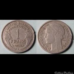 1 franc MORLON (légère) 1950 B