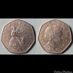 50 pence Elizabeth II (4ème effigie) 2004