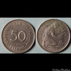 50 pfennig 1982 J