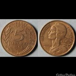 5 centimes Marianne 1969