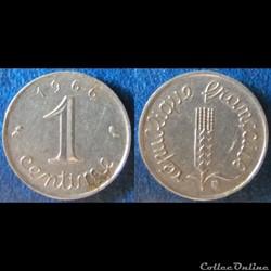 1 centime Epi 1966