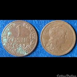 1 centime Dupuis 1920