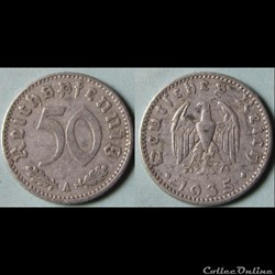 50 pfennig 1935 A
