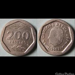 200 pesetas Juan Carlos Ier 1987