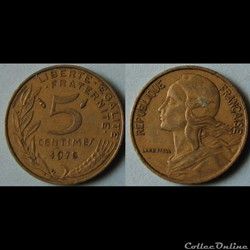 5 centimes Marianne 1975