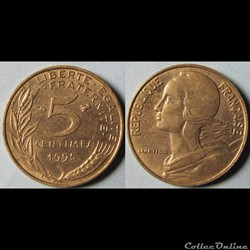 5 centimes Marianne 1995