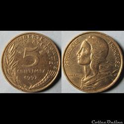5 centimes Marianne 1997