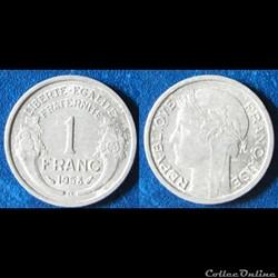 1 franc Morlon (légère) 1958 B