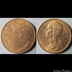 5 centimes Marianne 1971