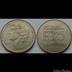 25 escudos 1977