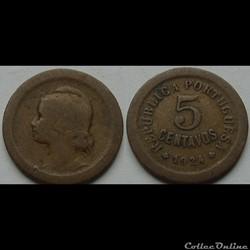 5 centavos 1924