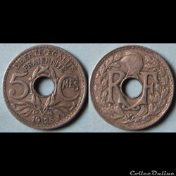 5 centimes Lindauer (petit module) 1925
