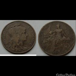 5 centimes Dupuis 1917