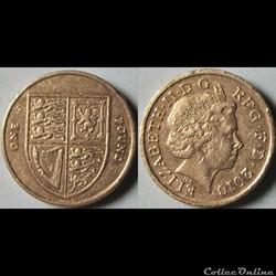 1 pound Elizabeth II (4ème effigie, blas...