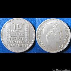 10 francs Turin (petite tête) 1947
