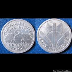 2francs Francisque 1944